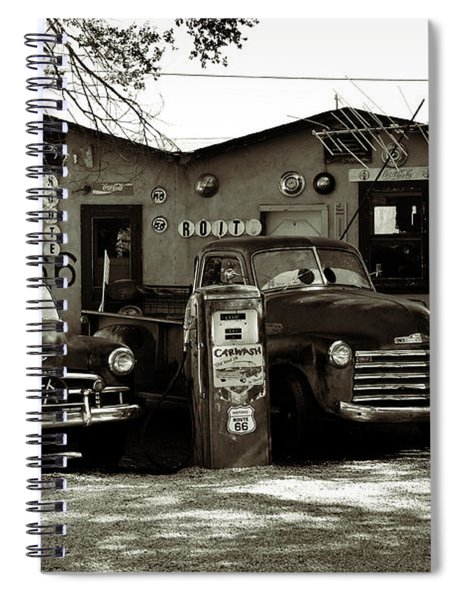 Old Cars On Route 66 Spiral Notebook