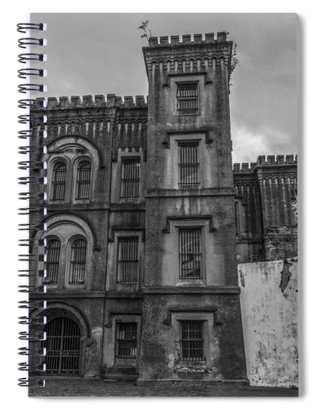 Old City Jail In Black And White Spiral Notebook