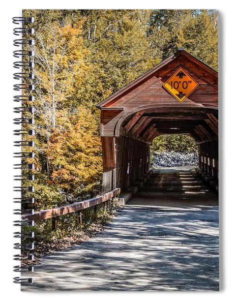 Spiral Notebook featuring the photograph Old Covered Bridge Vermont by Edward Fielding