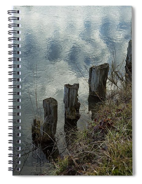 Old Dock Supports Along The Canal Bank - No 1 Spiral Notebook