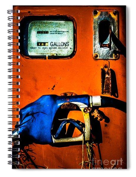 Old Farm Gas Pump Spiral Notebook
