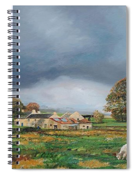 Old Farm, Monyash, Derbyshire, 2009 Oil On Canvas Spiral Notebook