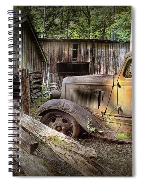 Old Farm Pickup Truck Spiral Notebook