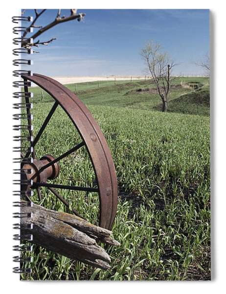 Old Farm Wagon Spiral Notebook