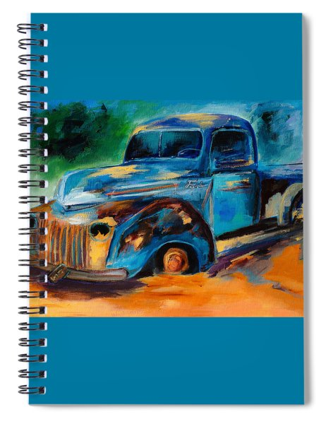 Old Ford In The Back Of The Field Spiral Notebook