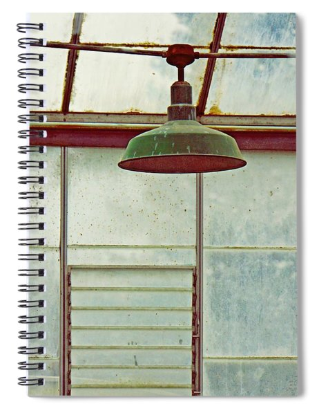 Old Green Lamp Spiral Notebook