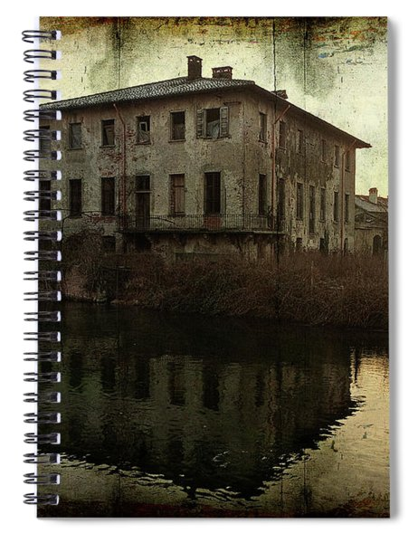 Old House On Canal Spiral Notebook
