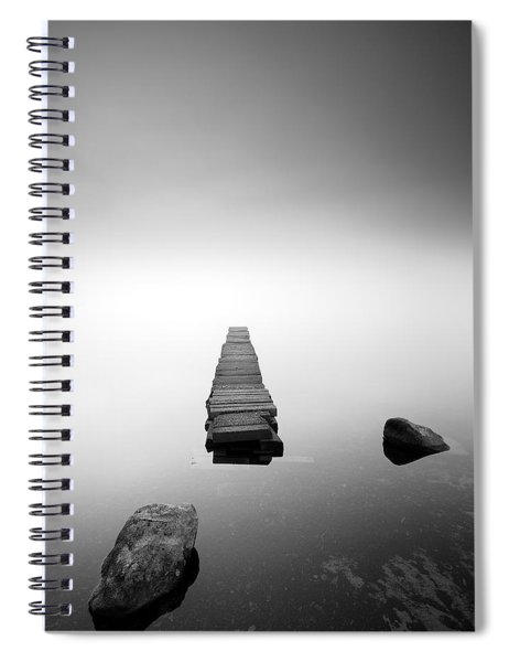 Old Jetty In The Mist Spiral Notebook