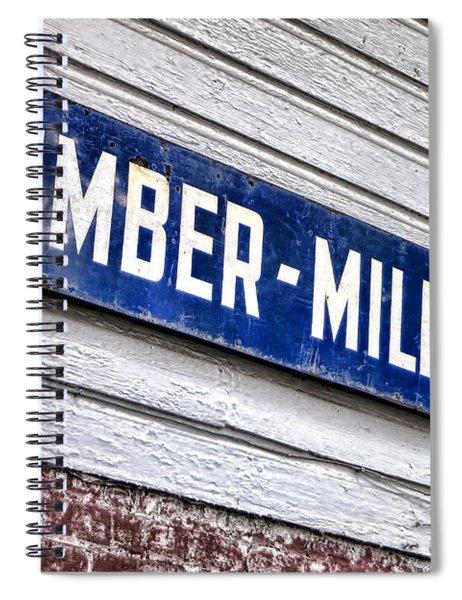 Old Lumberyard Sign Spiral Notebook