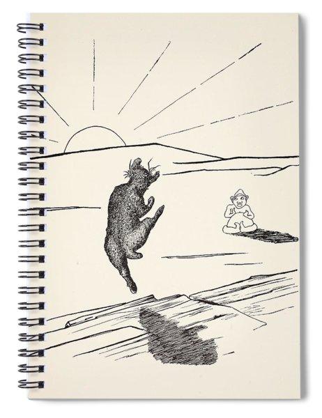 Old Man Kangaroo Spiral Notebook