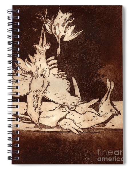Old Masters Still Life - With Great Bittern Duck Rabbit - Nature Morte - Natura Morta - Still Life Spiral Notebook