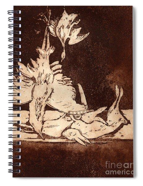 Old Masters Still Life - With Great Bittern Duck Rabbit - Nature Morte - Natura Morta - Still Life Spiral Notebook