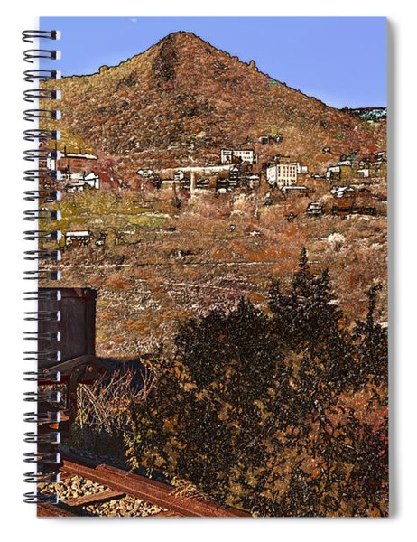 Old Mining Town No.24 Spiral Notebook