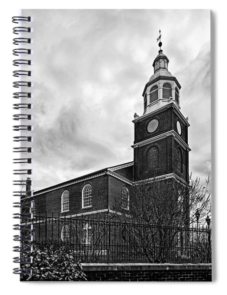 Old Otterbein Church In Black And White Spiral Notebook