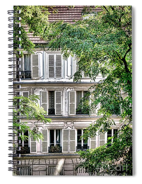 Old Parisian Building Spiral Notebook