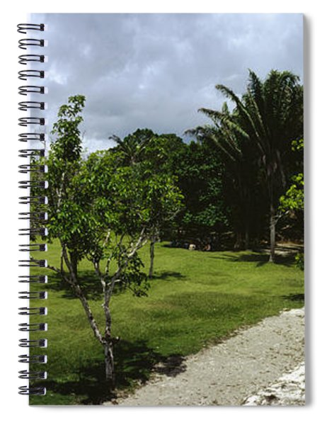 Old Ruins Of A Temple In A Forest Spiral Notebook