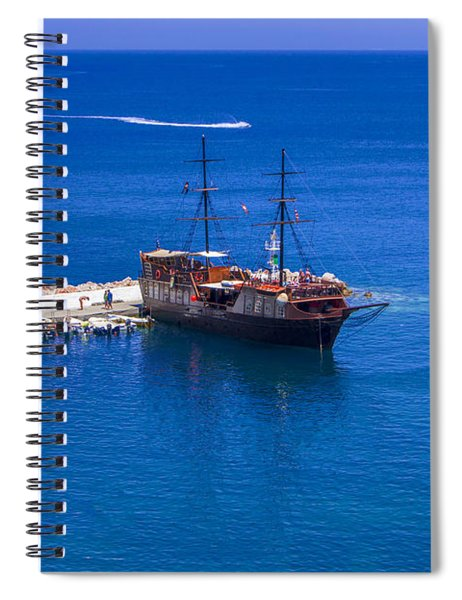 Old Sailing Ship In Bali Spiral Notebook
