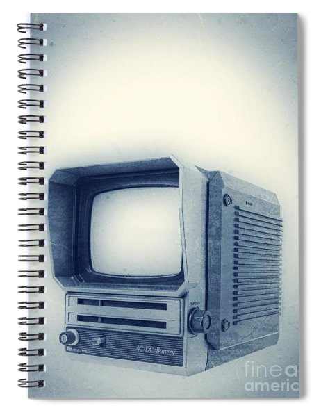 Old School Television Spiral Notebook by Edward Fielding
