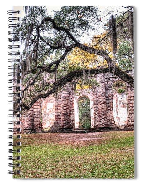 Old Sheldon Church - Bending Oak Spiral Notebook