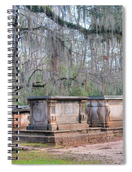Old Sheldon Church Broken Tombs Spiral Notebook