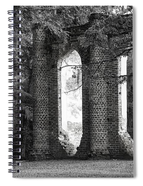 Old Sheldon Church Side View Spiral Notebook