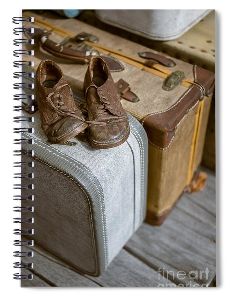Old Shoes And Packed Bags Spiral Notebook