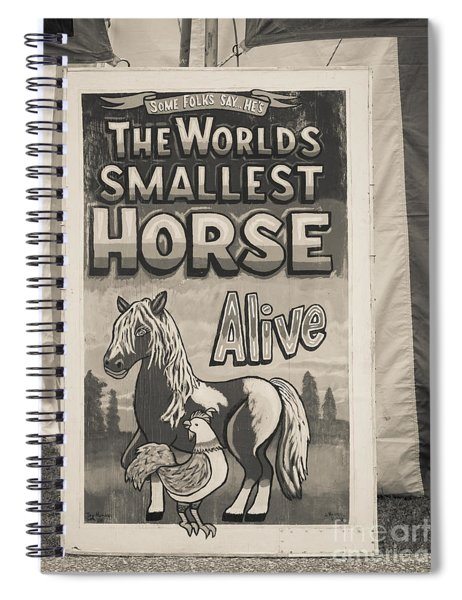 Old Sideshow Poster Spiral Notebook