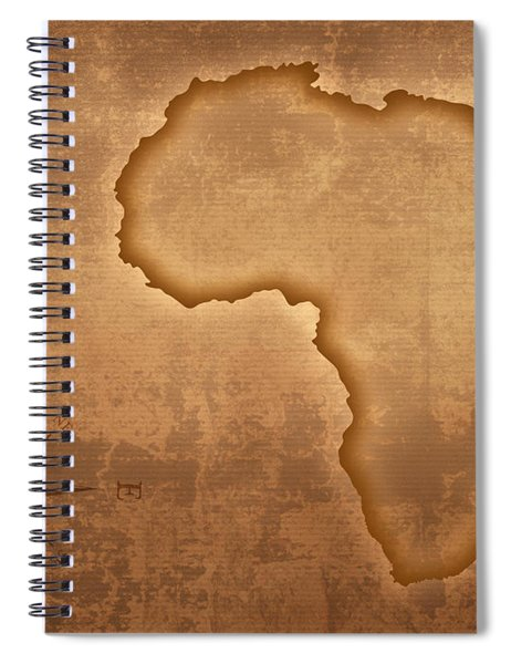 Old Style Africa Map Spiral Notebook