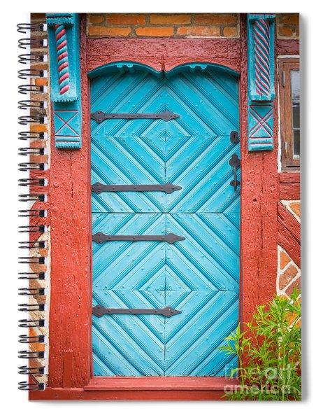 Old Swedish Door Spiral Notebook