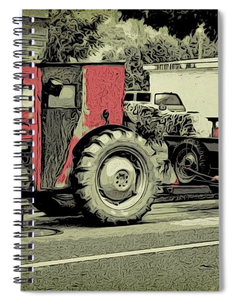 Old-time Farm Equipment Spiral Notebook