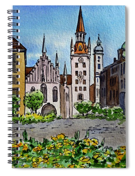 Old Town Hall Munich Germany Spiral Notebook