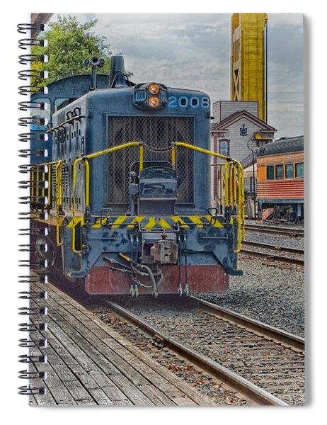 Spiral Notebook featuring the photograph Old Town Sacramento Railroad by Jim Thompson