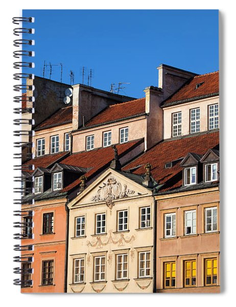 Old Town Tenement Houses In Warsaw Spiral Notebook