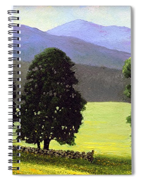 Old Wall Old Maples Spiral Notebook