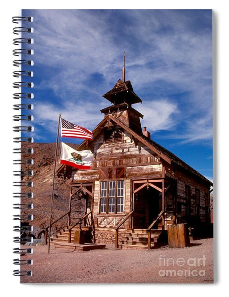 Old West School Days Spiral Notebook