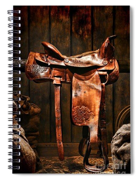 Old Western Saddle Spiral Notebook