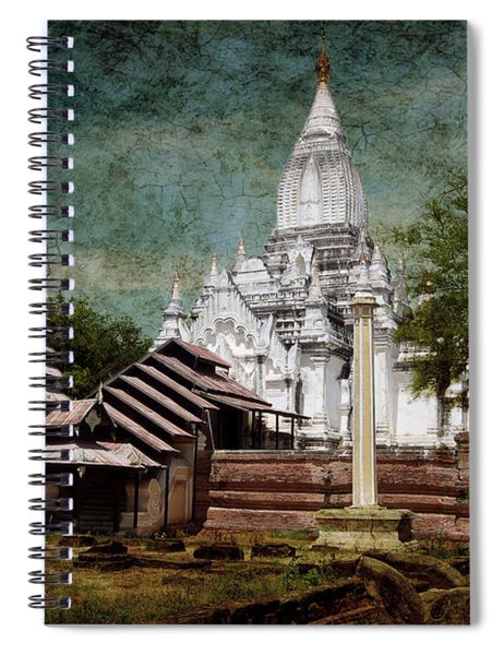 Old Whitewashed Lemyethna Temple Spiral Notebook