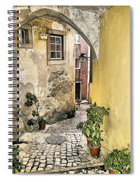 Old World Courtyard Of Europe Spiral Notebook