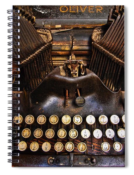 Spiral Notebook featuring the photograph Oliver by Skip Hunt