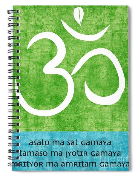 Om Asato Ma Sadgamaya Spiral Notebook