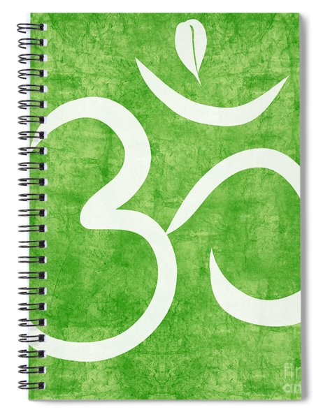 Om Green Spiral Notebook