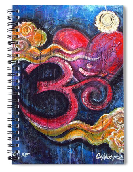 Om Heart Of Kindness Spiral Notebook