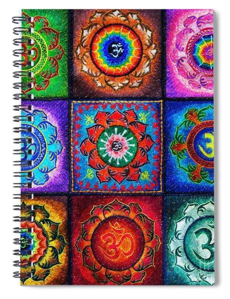 Om Squared Spiral Notebook