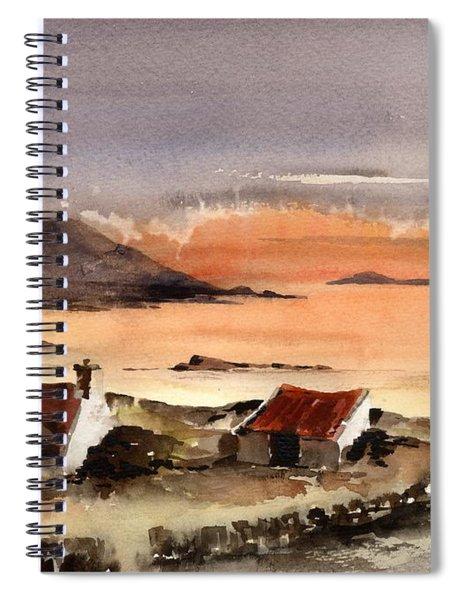Omey Island Sunset Galway Spiral Notebook