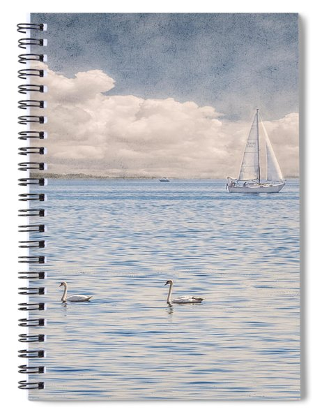 Spiral Notebook featuring the photograph On A Summer's Breeze by Garvin Hunter