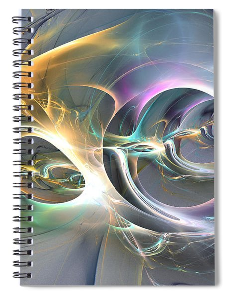 On Fire - Abstract Art Spiral Notebook