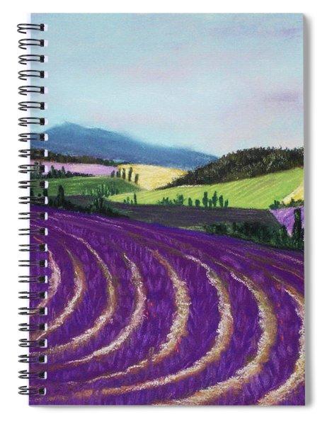 On Lavender Trail Spiral Notebook