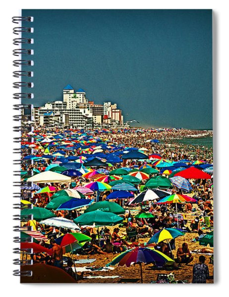 On The Beach In August Spiral Notebook