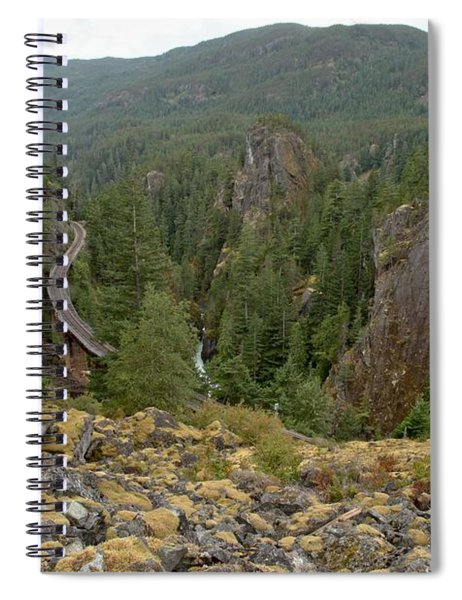 On The Edge Of The Cheakamus River Gorge Spiral Notebook
