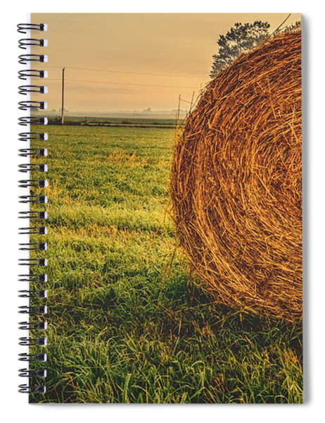 Spiral Notebook featuring the photograph On The Field  by Garvin Hunter